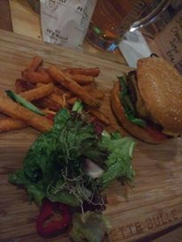 That was half a portion of Sweet potato fries (we were sharing!)